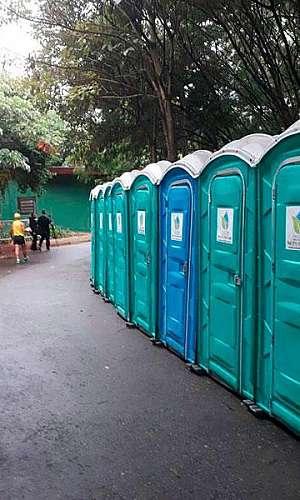 Banheiro móvel para alugar