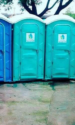Banheiro químico locação