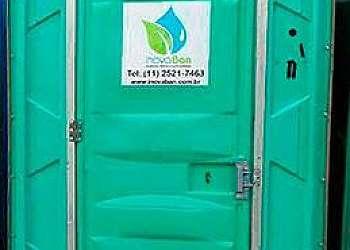 Banheiro químico para obra cotar